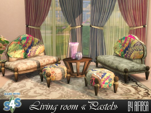 Pastel living recolors at Aifirsa image 1155 Sims 4 Updates