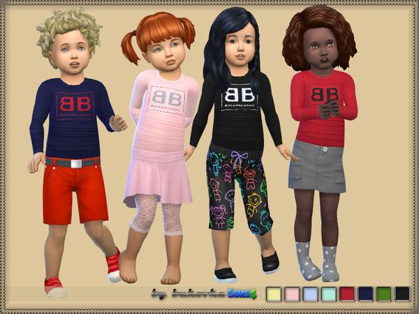 Sims 4 Long sleeve t shirt by bukovka at TSR