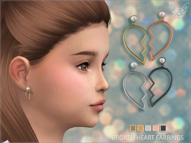 Broken Heart Earrings For Kids at Giulietta image 1164 670x503 Sims 4 Updates