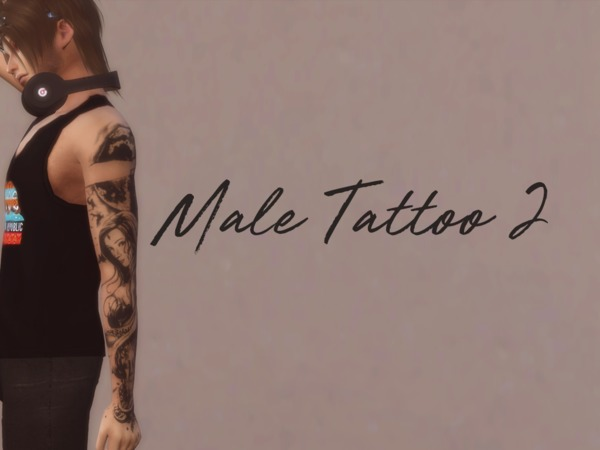 Male Tattoo 2 by Reevaly at TSR image 1171 Sims 4 Updates