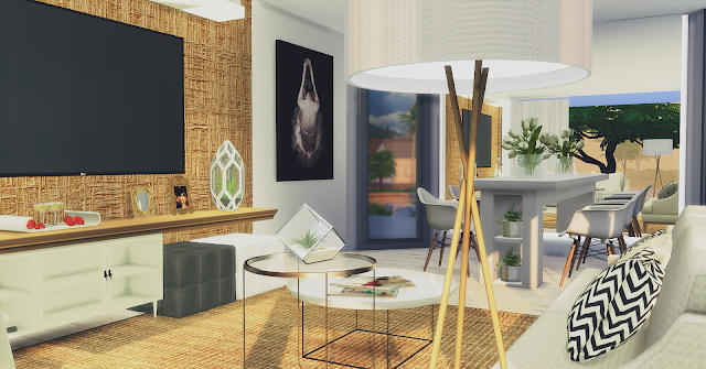 Sims 4 Living Room Minimalist at Lily Sims