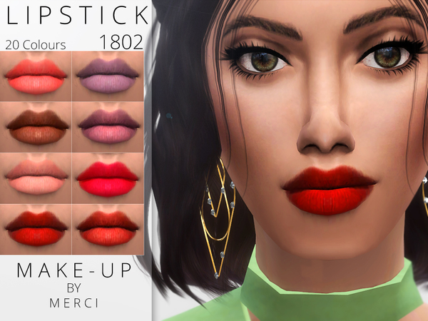 Lipstick 1802 by Merci at TSR image 1192 Sims 4 Updates