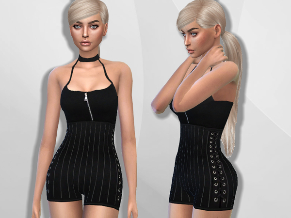 Striped Romper by Puresim at TSR image 1202 Sims 4 Updates
