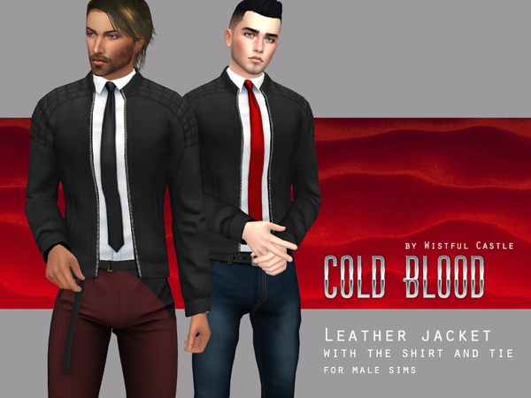 Cold blood male top by WistfulCastle at TSR image 1227 Sims 4 Updates