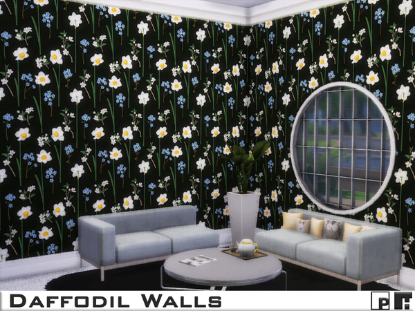Daffodil Walls by Pinkfizzzzz at TSR image 1243 Sims 4 Updates