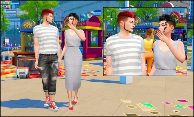 Donut time posepack at Rethdis love image 125 670x405 Sims 4 Updates
