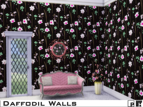Daffodil Walls by Pinkfizzzzz at TSR image 1253 Sims 4 Updates