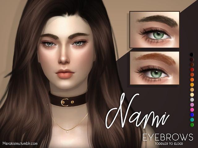 Nami eyebrows at Merakisims image 1254 Sims 4 Updates
