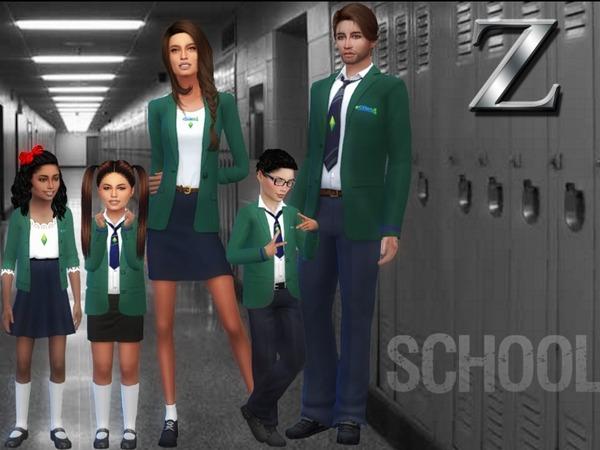 Sims 4 Private School Uniforms by ZitaRossouw at TSR