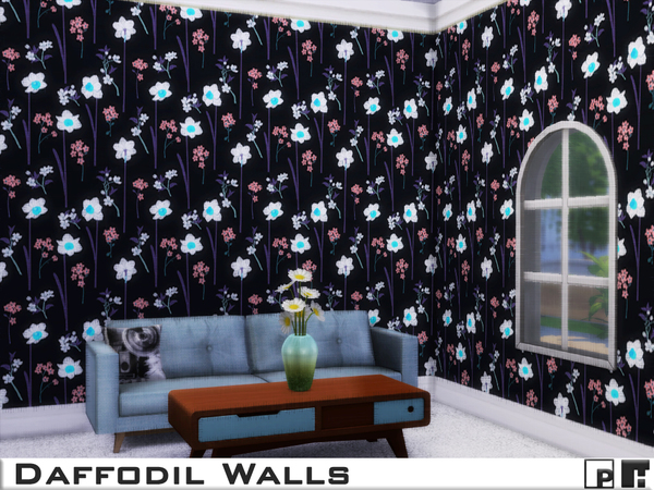 Daffodil Walls by Pinkfizzzzz at TSR image 1263 Sims 4 Updates