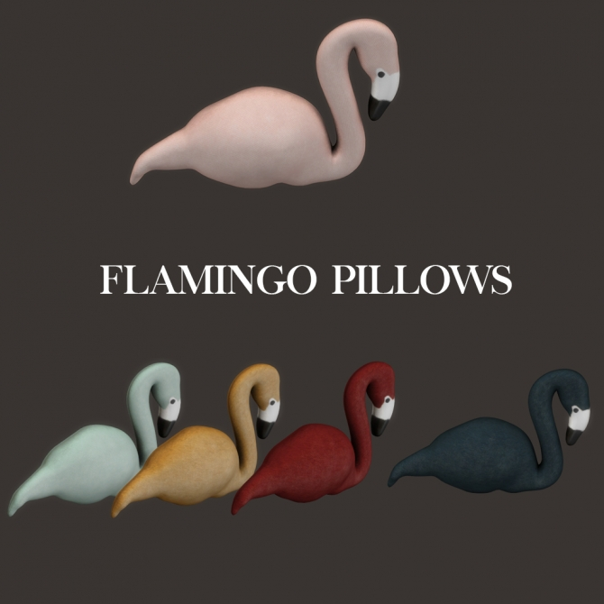 Flamingo Pillows At Leo Sims 187 Sims 4 Updates