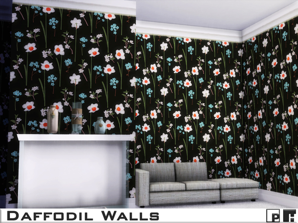 Daffodil Walls by Pinkfizzzzz at TSR image 1273 Sims 4 Updates