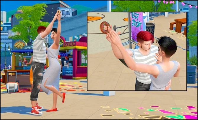 Donut time posepack at Rethdis love image 128 670x405 Sims 4 Updates