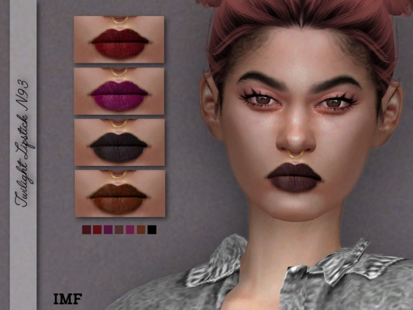 IMF Twilight Lipstick N.93 by IzzieMcFire at TSR image 1282 Sims 4 Updates