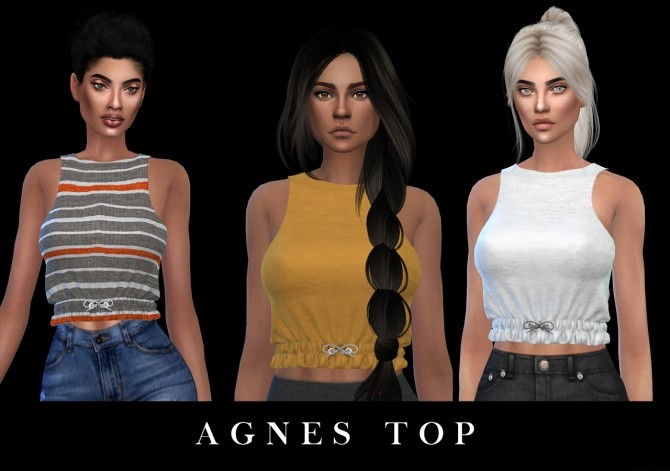 Sims 4 Agnes Top (P) at Leo Sims
