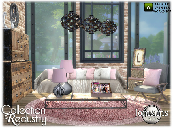 Redustry living room by jomsims at TSR image 1293 Sims 4 Updates