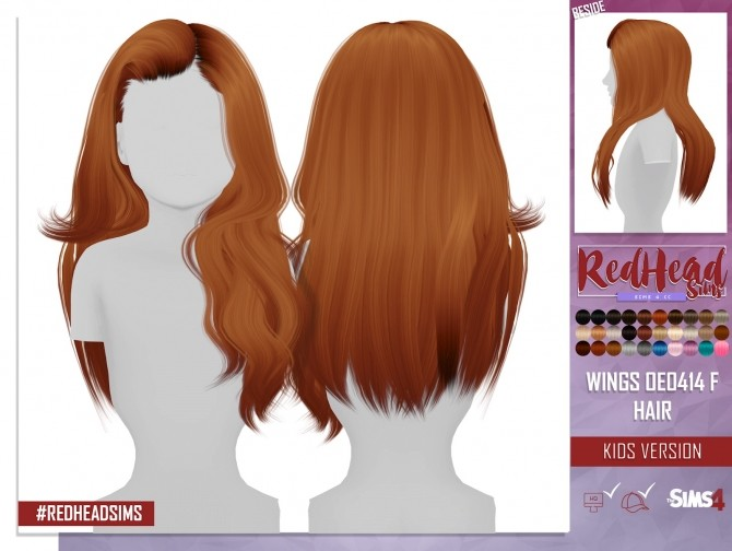 WINGS OE0414 F HAIR KIDS VERSION at REDHEADSIMS – Coupure Electrique image 1294 670x504 Sims 4 Updates