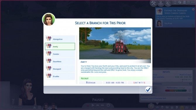 Sims 4 Divergent Series Career by DiamondVixen96 at Mod The Sims