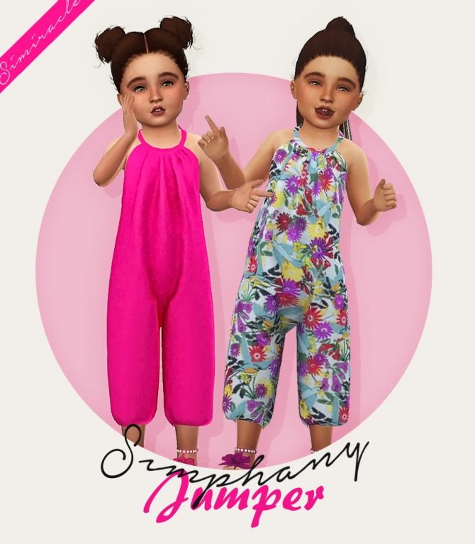 Jumper Recolor Toddlers At Simiracle 187 Sims 4 Updates
