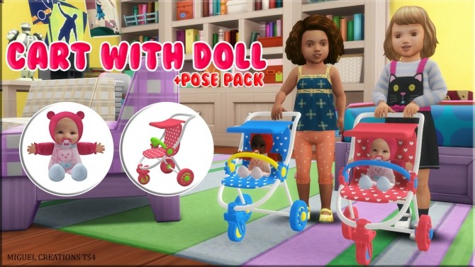Sims 4 Cart with doll at Victor Miguel