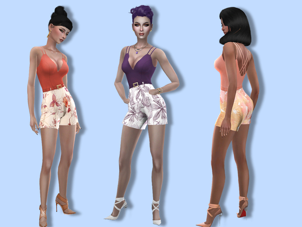 Sims 4 Betty romper by Simalicious at TSR