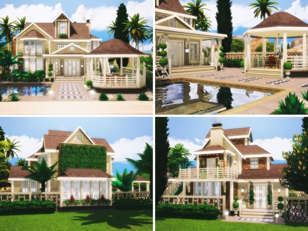 Sims 4 Sunshine house by MychQQQ at TSR