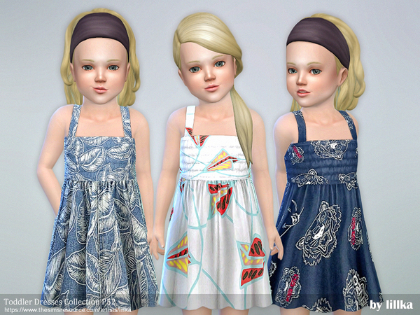 Sims 4 Toddler Dresses Collection P52 by lillka at TSR