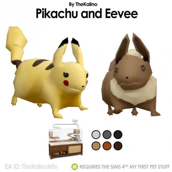 Pikachu and Eevee at Kalino image 1335 670x670 Sims 4 Updates