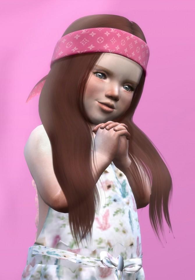 Sims 4 LEAH LILLITH KARIN HAIR KIDS AND TODDLER VERSION at REDHEADSIMS