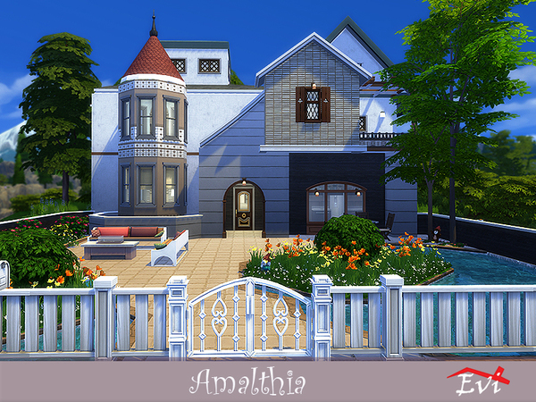 Sims 4 Amalthia house by evi at TSR