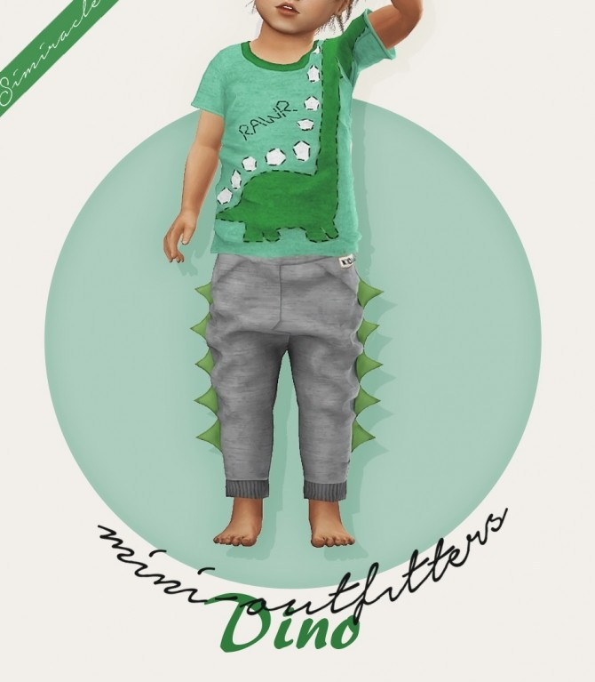 Sims 4 Dino Joggers Toddler Version 3T4 at Simiracle