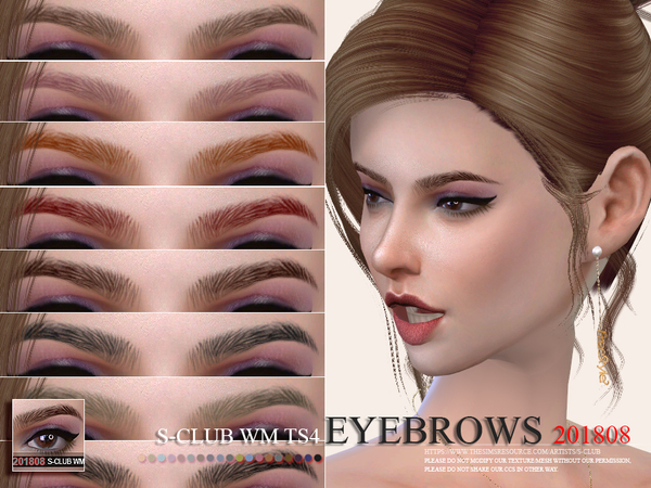 Eyebrows 201808 by S Club WM at TSR image 1422 Sims 4 Updates