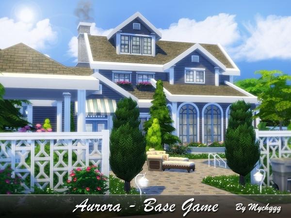 Sims 4 Aurora house by MychQQQ at TSR