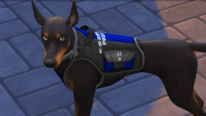 Sims 4 K 9 Officer Vest and Collar by EmilitaRabbit at Mod The Sims
