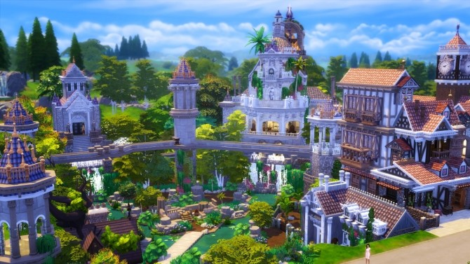 Sims 4 Fantasy Town at Akai Sims – kaibellvert