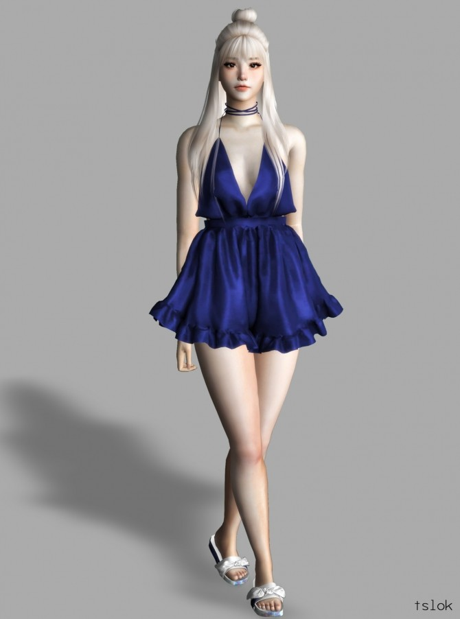 Belle satin romper at TSLOK image 1484 670x902 Sims 4 Updates