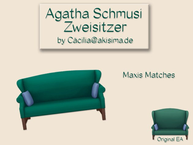Agatha Schmusi loveseat by Cäcilia at Akisima image 149 Sims 4 Updates