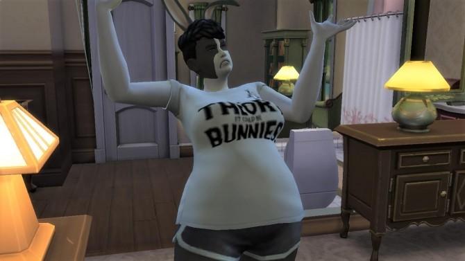 Sims 4 Dutch Rabbit Skin by EmilitaRabbit at Mod The Sims