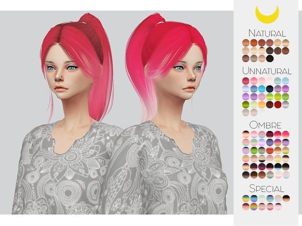 Sims 4 Hair Retexture 42 LeahLilliths Barbiegirl by Kalewa a at TSR