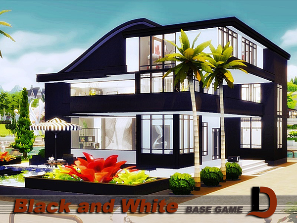 Black And White House By Danuta720 At Tsr