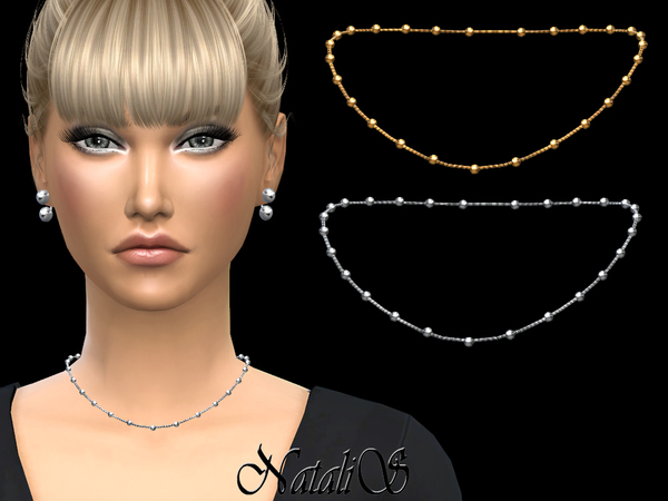 Multi beads station short necklace by NataliS at TSR image 1531 Sims 4 Updates