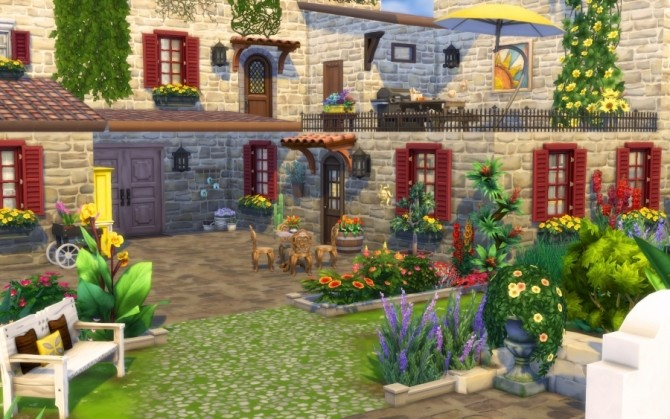 Azucena house by Bloup at Sims Artists image 156 670x419 Sims 4 Updates