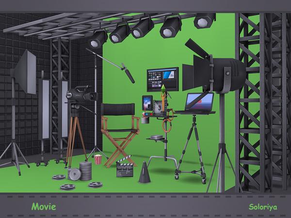 Movie set by soloriya at TSR image 1581 Sims 4 Updates