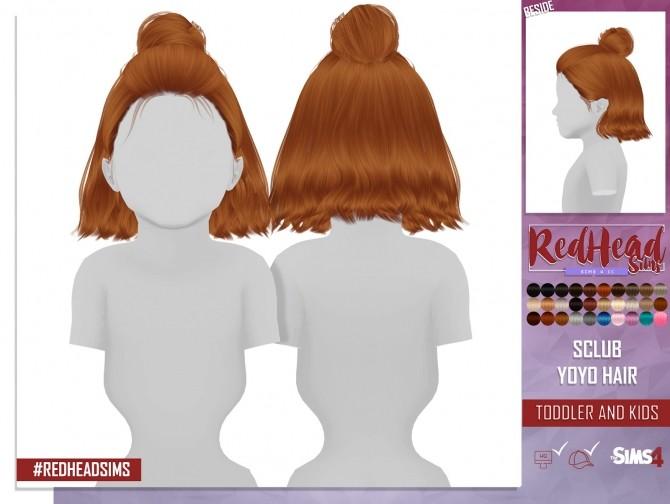 Sims 4 S CLUB YOYO HAIR KIDS AND TODDLER by Thiago Mitchell at REDHEADSIMS