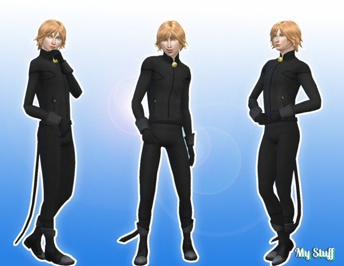 Sims 4 Cat Noir Outfit at My Stuff