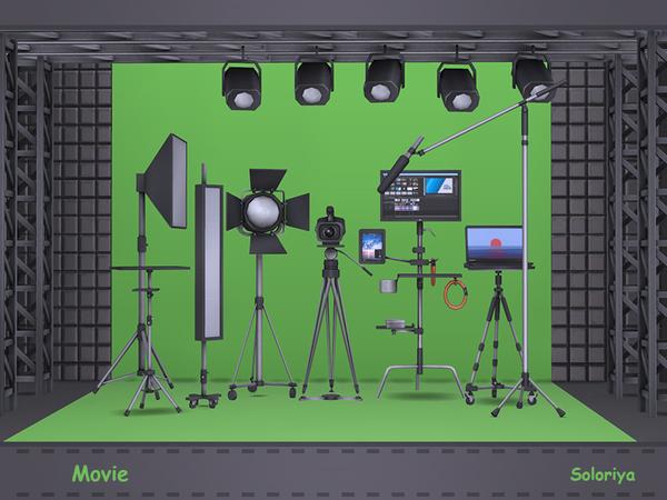 Movie set by soloriya at TSR image 1591 Sims 4 Updates