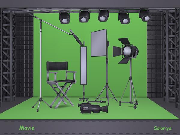 Movie set by soloriya at TSR image 1601 Sims 4 Updates
