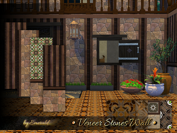 Veneer Stones Wall by emerald at TSR image 1617 Sims 4 Updates