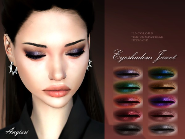 Eyeshadow Janet by ANGISSI at TSR image 1620 Sims 4 Updates
