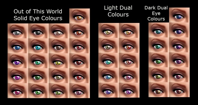 Out of This World Eyes 3 Sets of Colours by Simmiller at Mod The Sims image 1662 670x357 Sims 4 Updates